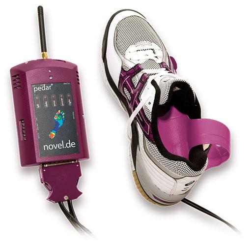 pedar: Dynamic pressure distribution inside the footwear | novel.de