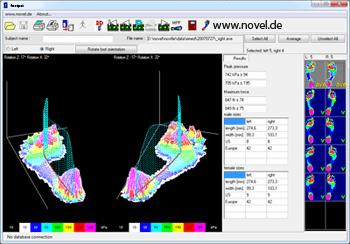 novel footpat software - pressure detection under foot | novel.de