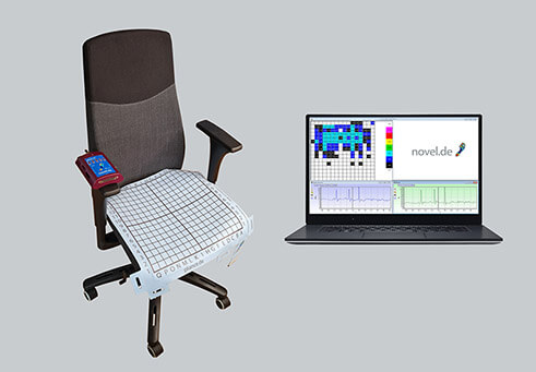 office chair pressure mapping - Pressure measurment for office chair- body pressure on chair